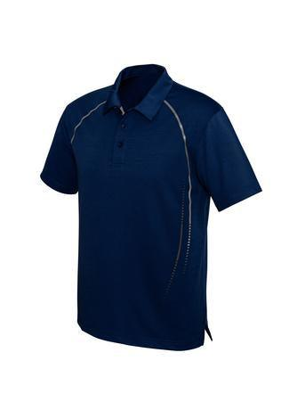 Navy/Silver / S Mens Cyber Polo