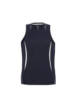 Load image into Gallery viewer, Navy/White / S Mens Razor Singlet