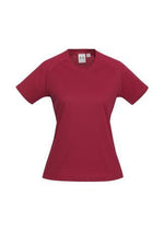 Load image into Gallery viewer, Red / 6 Ladies Sprint Tee