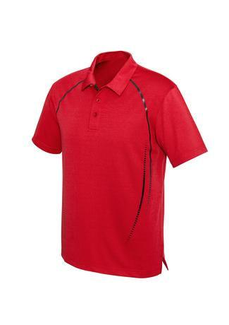 Red/Silver / S Mens Cyber Polo