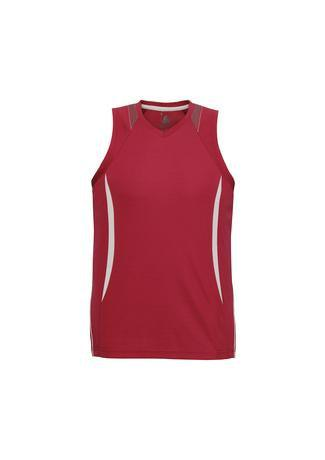 Red/White / S Mens Razor Singlet