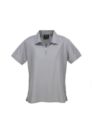 Silver Grey / 8 Ladies Micro Waffle Polo