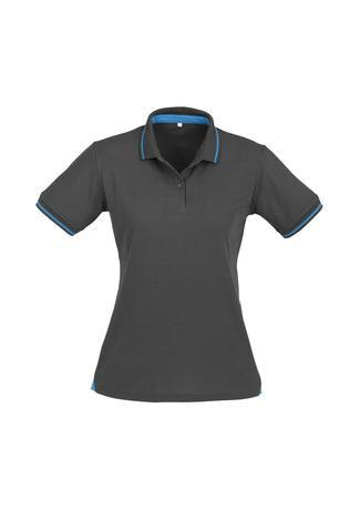 Steel Grey/Cyan Blue / 8 Ladies Jet Polo