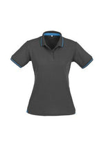 Load image into Gallery viewer, Steel Grey/Cyan Blue / 8 Ladies Jet Polo