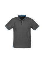 Load image into Gallery viewer, Steel Grey/Cyan Blue / S Mens Jet Polo
