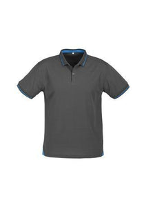 Steel Grey/Cyan Blue / S Mens Jet Polo