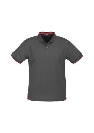 Steel Grey/Red / S Mens Jet Polo