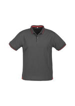 Load image into Gallery viewer, Steel Grey/Red / S Mens Jet Polo