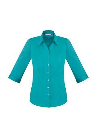 Teal / 6 Ladies Monaco 3/4 Sleeve Shirt