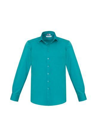 Teal / XS Mens Monaco Long Sleeve Shirt