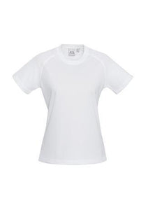 White / 6 Ladies Sprint Tee