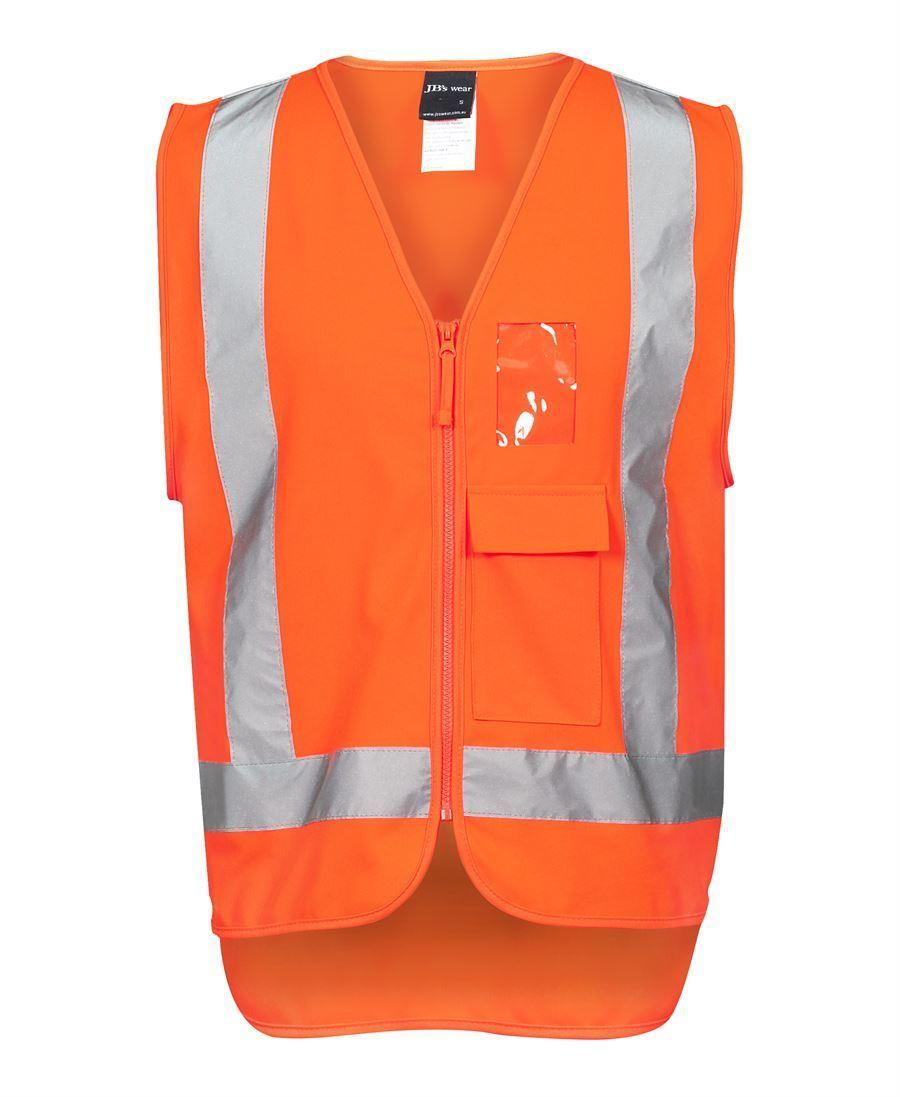 HI VIS ZIP VEST (Orange)