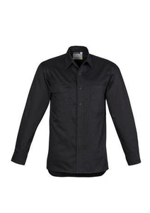 Black / S Mens Lightweight Tradie L/S Shirt