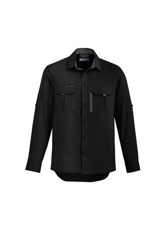 Black / XXS Mens Outdoor L/S Shirt