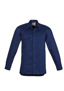 Blue / S Mens Lightweight Tradie L/S Shirt