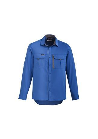 Blue / XXS Mens Outdoor L/S Shirt
