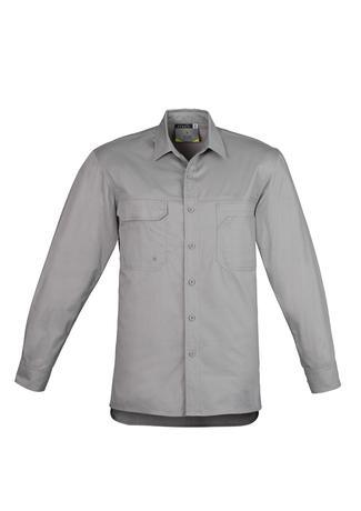 Grey / S Mens Lightweight Tradie L/S Shirt