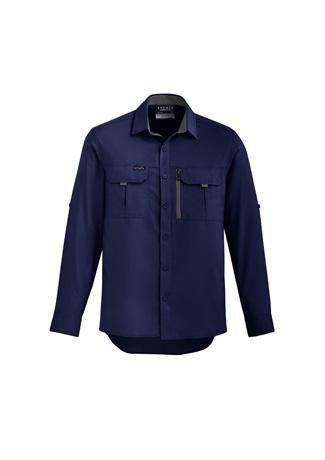 Navy / XXS Mens Outdoor L/S Shirt