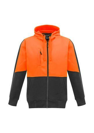 Orange/Charcoal / XXS Unisex Hi Vis Full Zip Hoodie