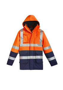 Orange/Navy / XXS Mens FR Arc Rated Anti Static Waterproof Jacket