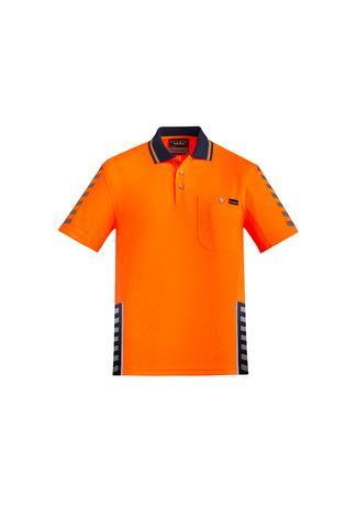 Orange/Navy / XXS Mens Komodo Polo