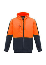 Load image into Gallery viewer, Orange/Navy / XXS Unisex Hi Vis Full Zip Hoodie