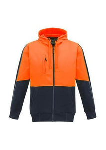 Orange/Navy / XXS Unisex Hi Vis Full Zip Hoodie