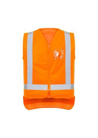 Orange / XXS Mens TTMC-W17 Zip X Back Vest