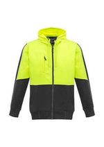 Load image into Gallery viewer, Yellow/Charcoal / XXS Unisex Hi Vis Full Zip Hoodie