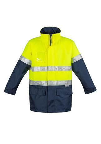 Yellow/Navy / S Mens Hi Vis Waterproof Lightweight Jacket