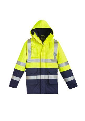 Yellow/Navy / XXS Mens FR Arc Rated Anti Static Waterproof Jacket