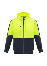 Load image into Gallery viewer, Yellow/Navy / XXS Unisex Hi Vis Full Zip Hoodie