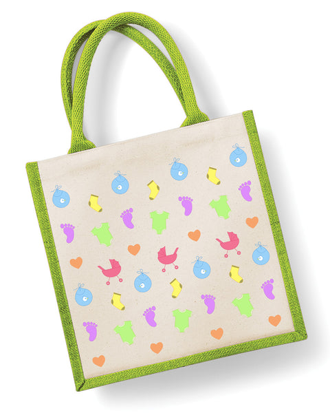 Newborn Pattern - Eco Friendly Jute Bag