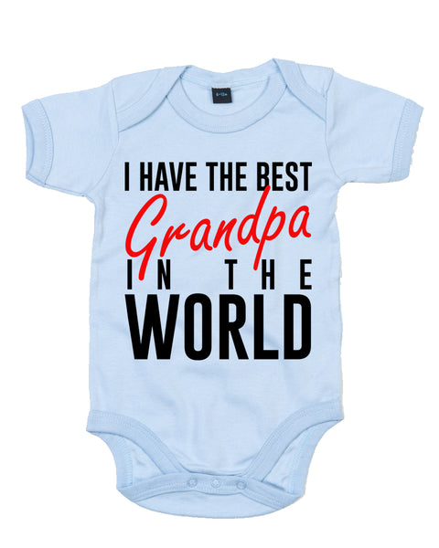 Best Grandpa In The World - Baby Grow Body Suit