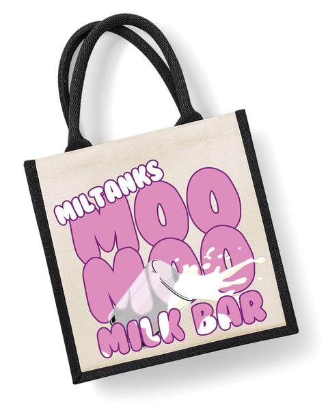 Miltank's Moo Moo Milk Bar - Eco Friendly Jute Bag