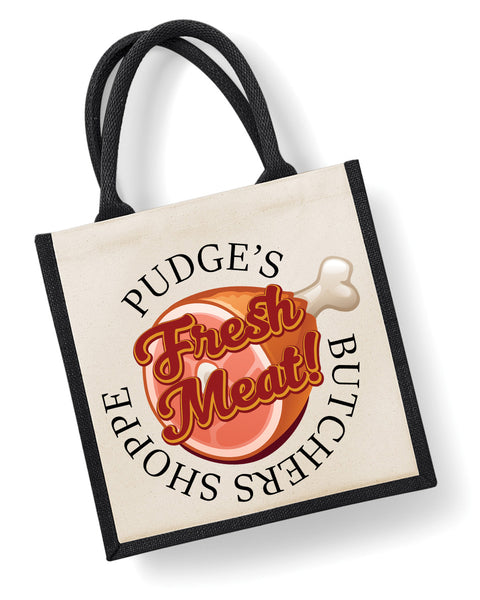 Pudge's Butcher Shoppe - Eco Friendly Jute Bag