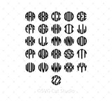 SVG files for Cricut Cricut Monogram Font Bundle SVG Cut Files Silhouette Studio3 files PNG clipart free svg by SVG Cut Studio