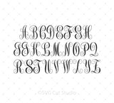 Monogram Font Bundle SVG at SVG Cut Studio