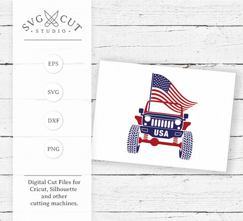 4th of July Jeep SVG Files