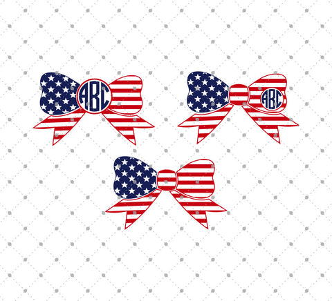 4th of July Bows SVG Cut Files at SVG Cut Studio