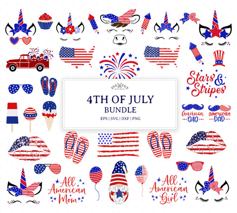 4th of July Bundle SVG Files