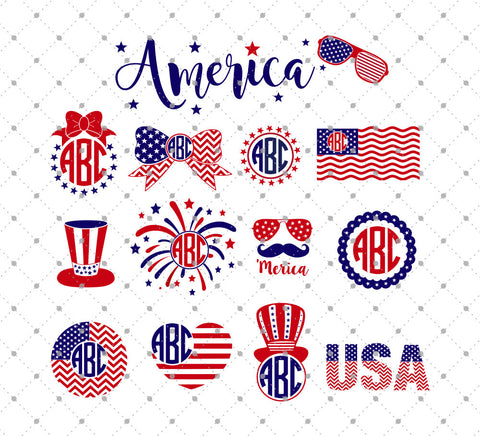 4th of July Independence day Fourth of July SVG Files for Cricut and Silhouette Etsy svg
