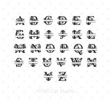 Monogram Font Bundle SVG PNG DXF files for Cricut and Silhouette