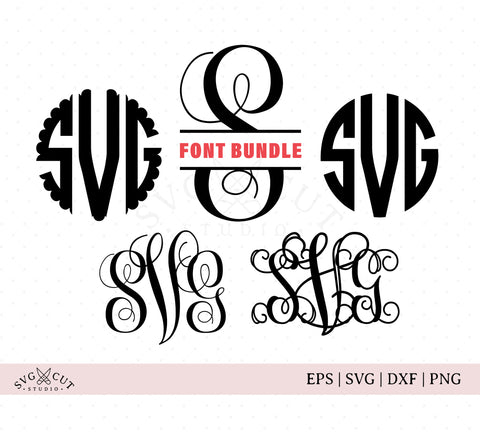 Font Bundle SVG Cut Files