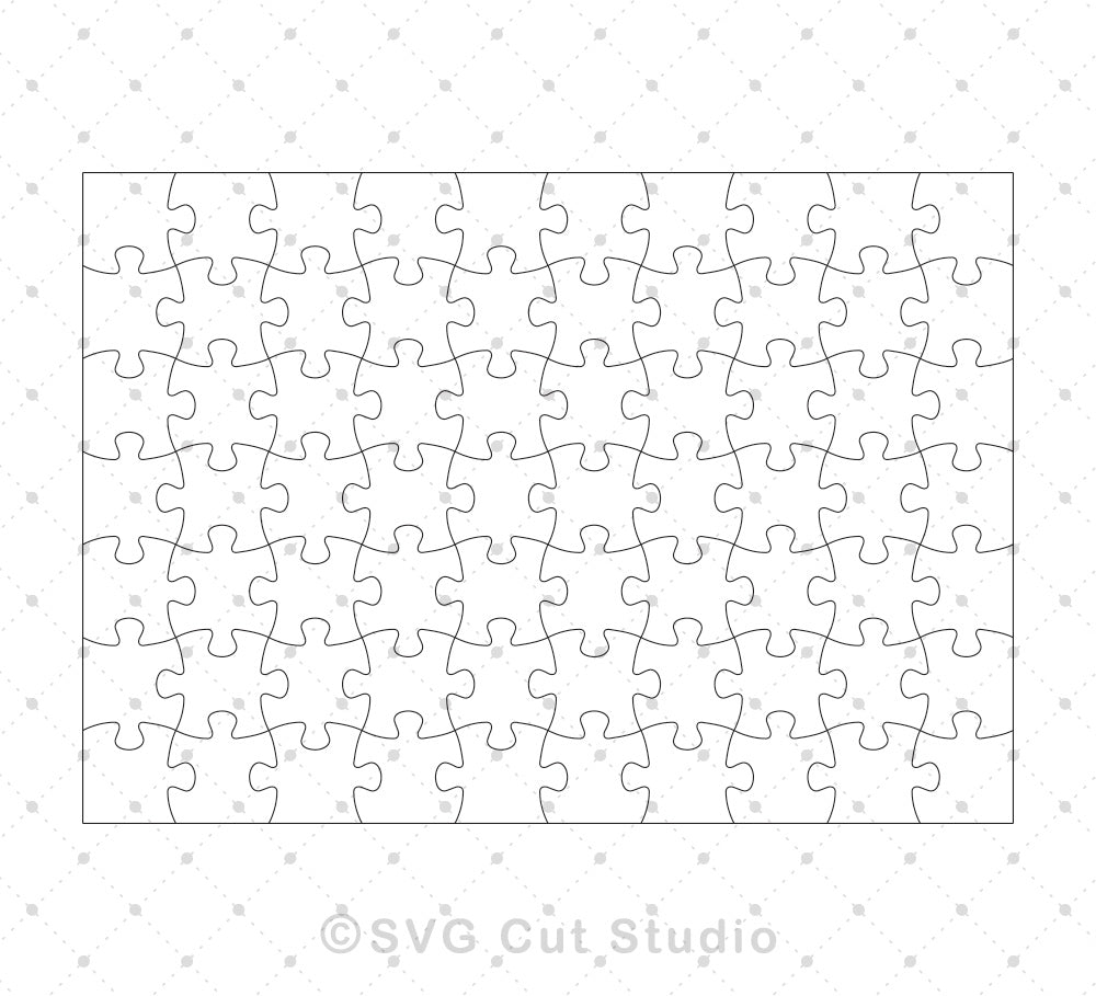 70 Pieces Small Kids Jigsaw Puzzle Template SVG EPS AI cut files ...