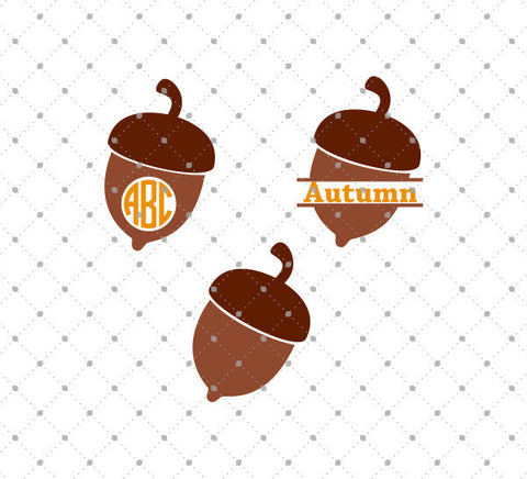 Acorn Monogram SVG Cut Files