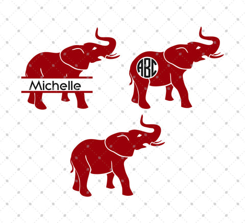 Alabama Elephant SVG Cut Files - SVG Cut Studio
