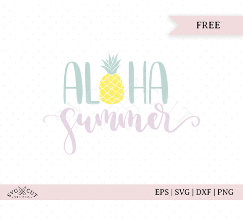 Aloha Summer SVG Cut Files