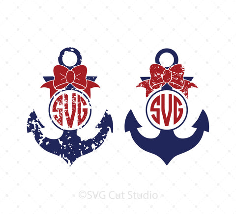Anchor Monogram Frames SVG Cut Files at SVG Cut Studio for Cricut Explore Silhouette Cameo free svg files