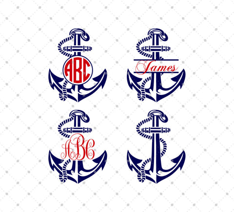 Anchor svg png dxf cut cutting files - svgcutstudio